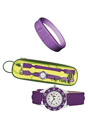 Cactus Kinder-Armbanduhr Analog plastik violett CAC-57-M09 - 2