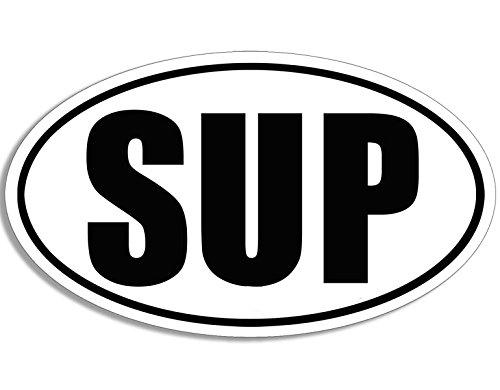 Preisvergleich Produktbild SUP weiß oval Aufkleber (Stand Up Boarding Board Aufkleber)