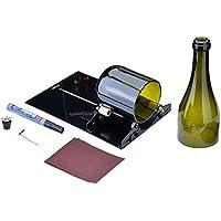 Kit para Cortar Botellas de Vino, Kit FIXM de Máquina para Cortar y Marcar Largas Botellas de Vidrio Herramienta para Cortar Reusar Reciclar Botellas de Cerveza y Vino - Negro