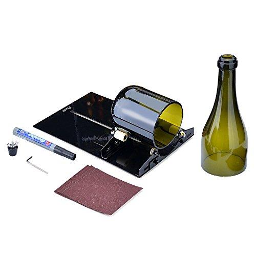 Bottiglia di vino cutter kit, Fixm Long Glass Wine Bottle cutter Scoring Machine kit utensile da taglio per DIY Reuse Recycle birra bottiglia di vino–nero