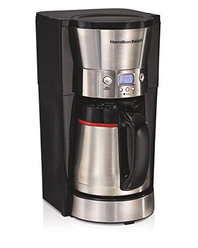 Hamilton Beach 46896A - Cafetera térmica (10 tazas, acero inoxidable), color negro 10 Cup Thermal Carafe negro