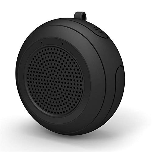 FWRSR IPX7 Impermeable al Aire Libre del Altavoz Bluetooth Piscina Flotante portátiles Mini Altavoces de 5W inalámbrico con micrófono TWS,Negro