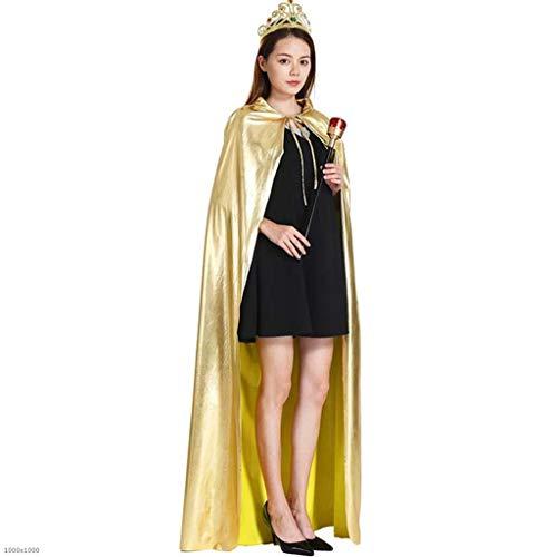 DDHZTA Halloween Prinzessin Prinz Mantel Krone Zepter Prince Kostüm Golden King Clothes ()
