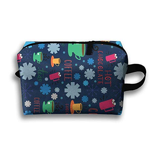 Hot Chocolate Coffee Travel Cosmetic Bag Make-Up Bags Stationery Holder