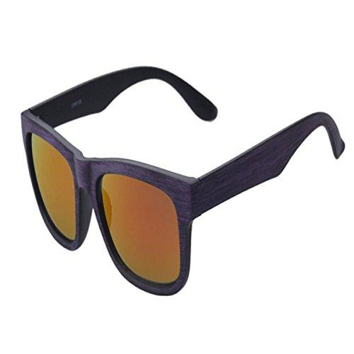 HSNZZPP Frauen Holzimitat-Korn-Sonnenbrille Europäische Und Amerikanische Klassische Holz Spiegel Sonnenbrille Outdoor-Sport-Holz Brille Reiten,D-OneSize