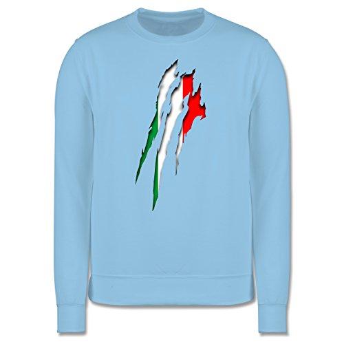 Länder - Italien Krallenspuren - Herren Premium Pullover Hellblau