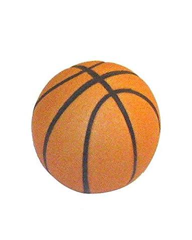 Sofoc 8773929 Basket Bouton de Porte et Tiroir de Meuble Ballon de Basketball Plastique Orange et Noir 3,1 x 3,1 x 3,1 cm