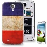 Rocina Akkufachdeckel Backcover für Samsung i9500 Galaxy S4 Retro Flagge Frankreich