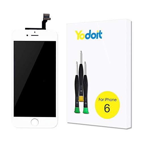 Yodoit LCD Touchscreen Digitizer Front Komplettes Glas Reparatur Display Weiß Ersatzbildschirm Für iPhone 6 mit Werkzeugset
