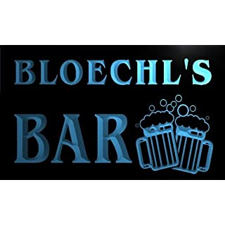 w085004-b BLOECHL Name Home Bar Pub Beer Mugs Cheers Neon Light Sign