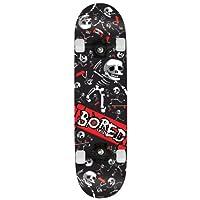 Bored Crazy Kids Skateboard, Miulticolour, 31 inch