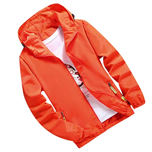 MIRRAY Herren Herbst beiläufige lose Reißverschlusstasche Plus Size Hoodie Sportjacke Mantel