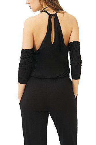 trueprodigy Casual Damen Marken Jumpsuit Einfarbig Basic, Einteiler Cool und Stylisch Sexy (Sportlich & Slim Fit), Overall für Frauen in Farbe: Schwarz 4082501-2999 Black