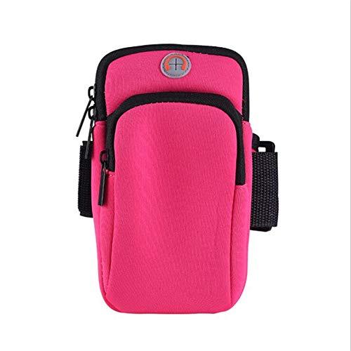 ACHICOO Outdoor-Handgelenk-Tasche Sport Laufen Fitnessgeräte Handy-Arm-Tasche Rose rot