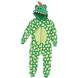 Animal Crazy Onesie - Pijama de una pieza - para niño Verde Dinosaurio 10-11 Años