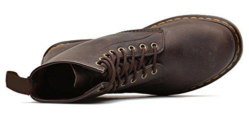 Chaussures bottines model CRUSERS en cuir par HGilliane Design Eu 33 au 46 brown