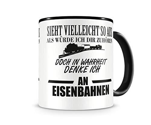 Samunshi® Ich denke an Eisenbahnen Tasse Kaffeetasse Teetasse Kaffeepott Kaffeebecher Becher