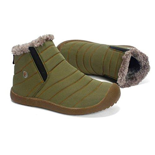 Stivali Invernali In Cotone, Più Stivali Morbidi E Caldi Stivali Da Neve Antiscivolo 38-43 Green