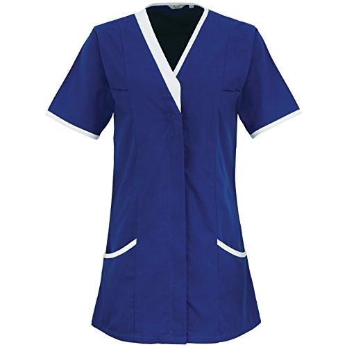 premier-daisy-camice-a-maniche-corte-donna-54-blu-reale-bianco