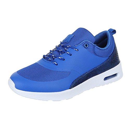 Sapatas Das Senhoras, H003, Sapatos Casuais Moda Lace-azuis