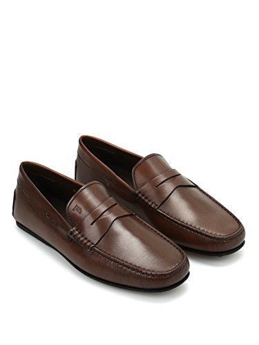 Tod's City Gommino Mocassino in Pelle XXM0LR00011D9CS801 Marrone Uomo 9