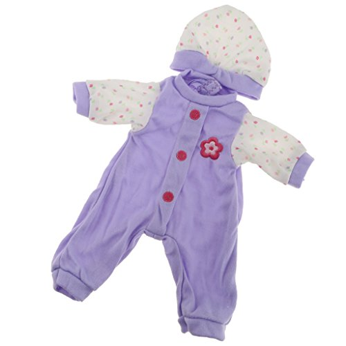 Baoblaze Schöne Puppenkleidung Overall Jumpsuit Outfit für 36 cm American Girl Puppe Dress up - C - Lila