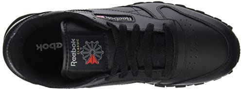 Reebok Jungen Classic Leather Laufschuhe Schwarz (Black)