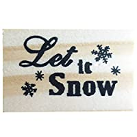 ‏‪yeesport Christmas Rubber Stamp DIY Snowflake Letter Elk Wooden Rubber Stamp Holiday Stamp‬‏