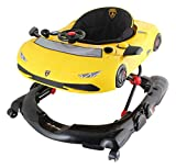 Trotteur bébé Lamborghini sport avec tablette d'éveil - réglable en plusieurs positions