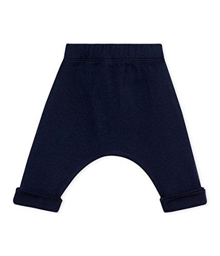 Petit Bateau SF PANTALONS MAILLE Pantalon Mixte bébé Bleu (Smoking 01) 0-3 mois (Taille fabricant: 1M 1 MOIS)