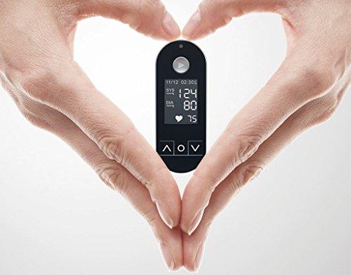 Maisense Freescan - Ihr persöhnliches Herz-Kreislauf, Puls und Blutdruck Messgerät Ohne Manschette - Ermitteln Sie per App Aterienalter, Risiko für Herzrhythmusstörungen und Mögliches Vorhof-Flimmern