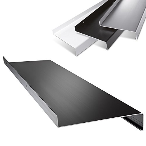 Aluminium Fensterbank in Dunkelbronze Zuschnitt nach Maß Länge 1000 mm Ausladung 90 mm - weitere Längen und Farben wählbar