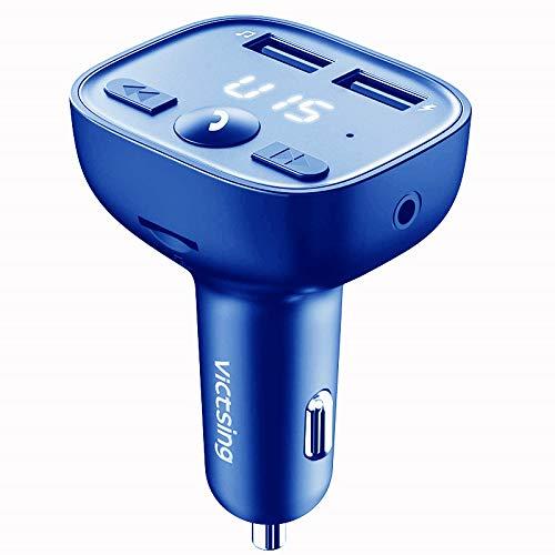 Trasmettitore FM Bluetooth di VicTsing per auto, adattatore radio di 1,44Pollici caricatore da auto USB