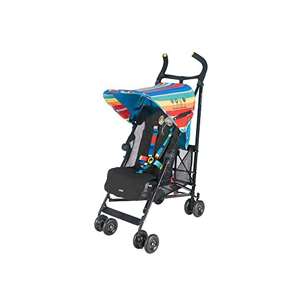 Maclaren Dylan's Candy Bar Volo Stroller - super lightweight, compact Maclaren Basic weight of 3.3kg/7.2lb; ideal for children 6 months and up to 25kg/55lb Maclaren is the only brand to offer a sovereign lifetime warranty Extendable upf 50+ sun canopy and built-in sun visor 10