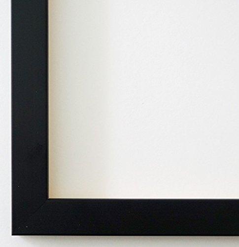 Bilderrahmen Neapel Schwarz 2,0 - DIN A4 (21,0 x 29,7 cm) - WRF - 500 Varianten - alle Größen - handgefertigt - Galerie-Qualität - Antik, Barock, Landhaus, Shabby, Modern - Fotorahmen Urkundenrahmen Posterrahmen
