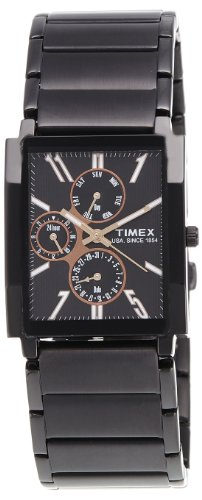 Timex E-Class Analog Black Dial Men's Watch - RN08 image
