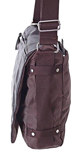 Dokumententasche Kuriertasche Schultertasche Citybag Flugbegleiter Umhängetasche Business Messenger Bag Tasche (Braun) Braun