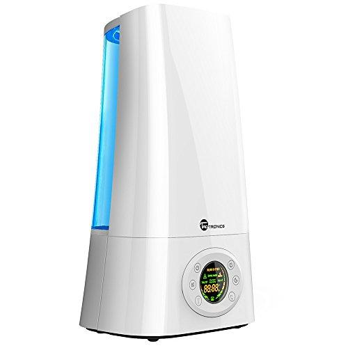 Luftbefeuchter Ultraschall TaoTronics 5L, LED-Anzeige, Verstellbare Sprühung, 360 Grad drehbare Düse, Zeitschaltuhr (Ruhige Große Luftbefeuchter)