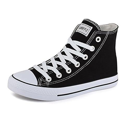 best-boots Damen High-Top Sneaker Schnürer SCHWARZ 805 Größe