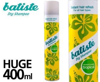 Batist-Shampoo Trocken-Tropical 400ml: exotischen Duft den Aromen Kokosnuss. 3Stück -