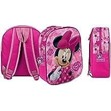 60c498188b Zaino Minnie Mouse 3D Tridimensionale Borsa Scuola Asilo -  Dimensioni:31x26,5x10 Cm.