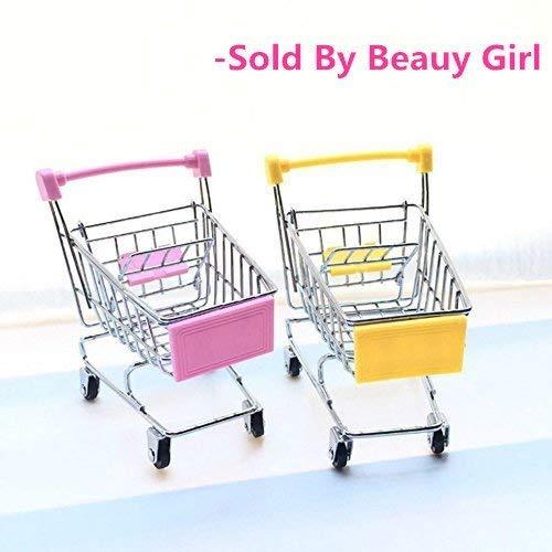 2 Pcs Beauy Chica Mini Carro De Compras Supermercado