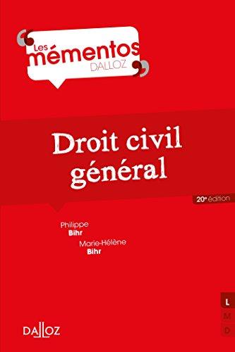 Droit civil général - 20e éd. par Philippe Bihr