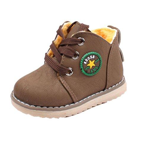 Martin Stiefel Rutschfest Jamicy® Herbst Winter heiße Verkaufs Baumwoll Stiefel klassische Schuhe Rutschfeste Halten Warme Schnee aufladungen für Jungen mädchen (3.5 Jahre, (Boots Verkauf Herren Zum)