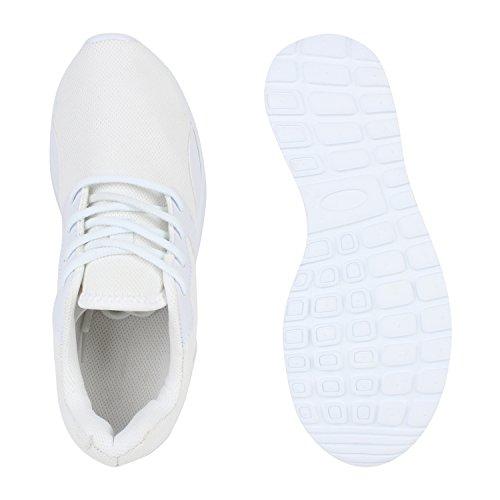 Damen Herren Laufschuhe Runners Bequeme Sportschuhe Profilsohle Weiß