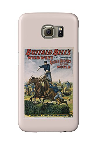 Buffalo Bill's Wild West - Cavalerie Exercices Americaines Vintage Poster France c. 1905 (Galaxy S6 Cell Phone Case, Slim Barely There) (Wild Bills Buffalo West)
