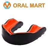 Oral Mart Jeune Bouche de Garde pour Les Enfants - Jeunesse Protège-Dents pour Le Karaté, (Noir/Orange)