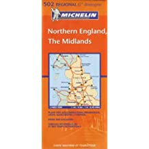 Carte RGIONAL Northern England, The Midlands