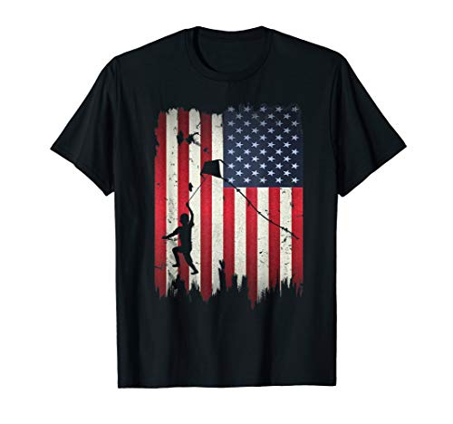 Kite Flying USA American Flag 4th of July Patriotic Gift T-Shirt - Flyer Kite
