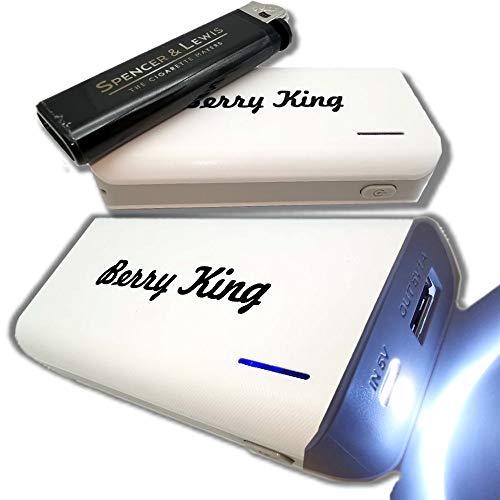 bestbeans Safety Powerbank 4000mAh Externer Akku mit LED LICHT STRAHLER 40h - helle Taschenlampe Akku extern Ladeanzeige Tragbares Ladegerät - kompatibel mit iPhone, Samsung, Huawei, Tablets UVM